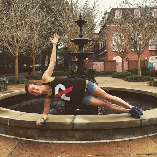 Reppin' Refine in Disney... with a fountain side plank