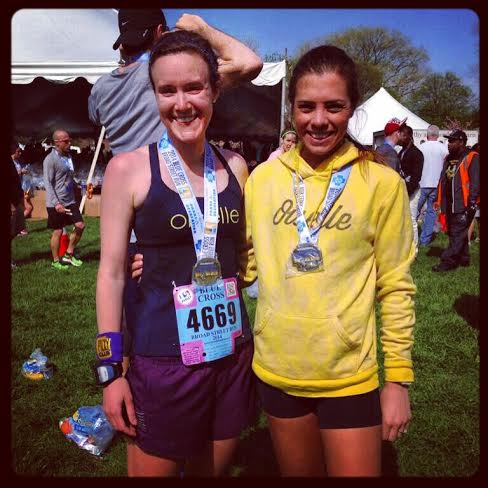 Jersey Birds do Philly! Me + Hollie after the race