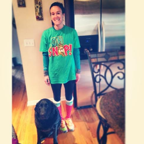 Yes this is what I wore when I ran Christmas morning.