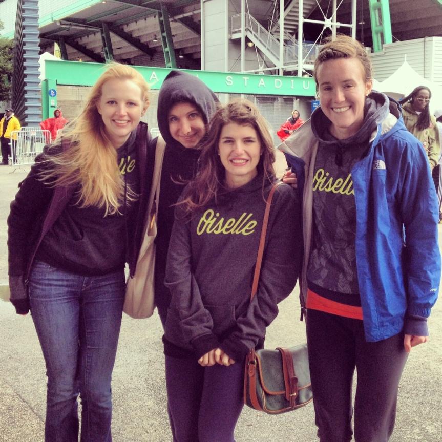 Oiselle Team Birds! Abby, Robin, Jenna, and me.