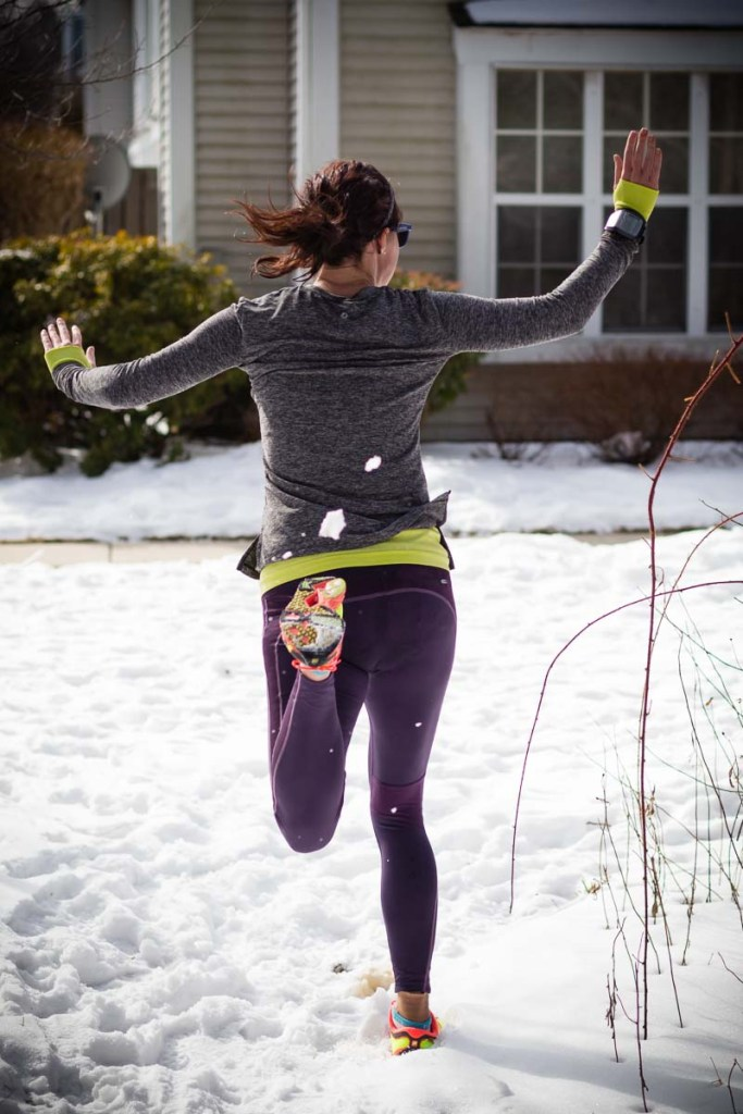 """I basically looked like this while """"running"""" in the snow"""