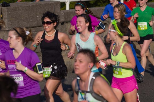 Runnin' with Krissy & Ashley at the Nike Women's Half in 2013!