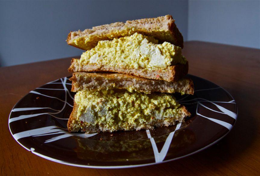 Vegan Tofu Curry Salad | FoodosaurusRex.com