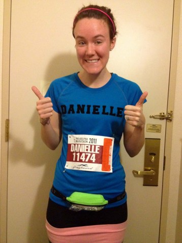 Thumbs up for my first marathon!