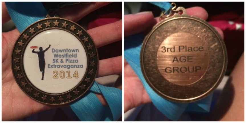 The medal I waited for in severe weather. Logical.