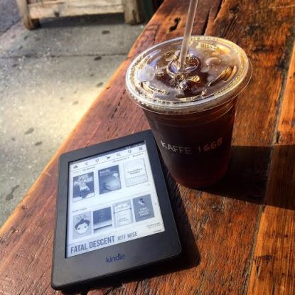 Kindle + coffee... two of my favorite things.