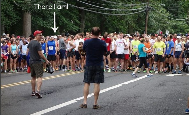"""I'd say """"Where's Waldo?"""" But there was actually a kid dressed up as Waldo at this race..."""